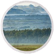 The Land Of A Thousand Hills Round Beach Towel