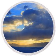 The Land Of Enchantment Round Beach Towel by Bob Christopher