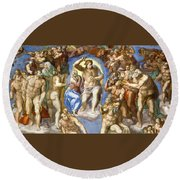 The Last Judgment - Detail Round Beach Towel