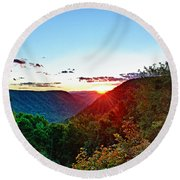 The Last Rays Round Beach Towel