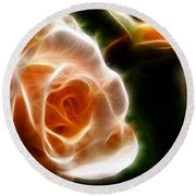 The Last Rose Of Summer Round Beach Towel
