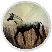 The Last Unicorn Round Beach Towel by Bob Orsillo
