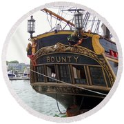 The Late Great Bounty Round Beach Towel