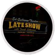 The Late Show  Round Beach Towel
