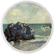 The Laugland Bay Round Beach Towel