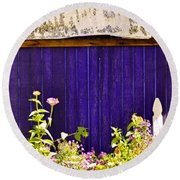 The Lavender Round Beach Towel