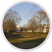 The Lawn University Of Virginia Round Beach Towel