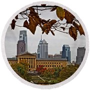 The Leaves Of Philly Round Beach Towel