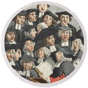 The Lecture, Illustration From Hogarth Round Beach Towel