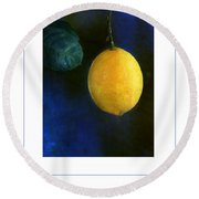 The Lemon Poster Round Beach Towel