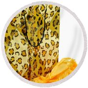The Leopard Gift Bag Round Beach Towel by Diana Angstadt