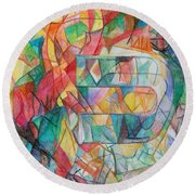 The Letter Caf 2 Round Beach Towel