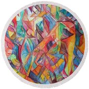 The Letter Chet 2 Round Beach Towel
