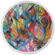 The Letter Yud 2 Round Beach Towel