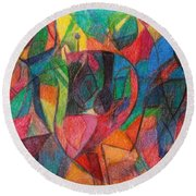 The Letter Yud Round Beach Towel