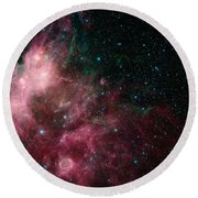 The Life And Death Of Stars Round Beach Towel