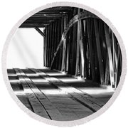 The Light At The End Of The Bridge Round Beach Towel