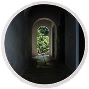 The Light At The End Of The Tunnel  Round Beach Towel