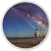 The Light Guard   Round Beach Towel