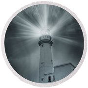The Light House Round Beach Towel