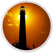 The Light Of Cape May Round Beach Towel