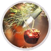 The Light Of Christmas Round Beach Towel