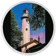 The Light Of Hope... Round Beach Towel
