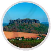 The Lilienstein Round Beach Towel