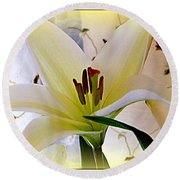 The Lily Round Beach Towel