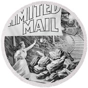 The Limited Mail, 1899 Round Beach Towel