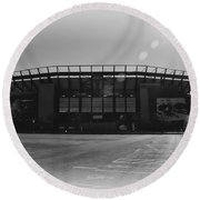 The Linc In Black And White Round Beach Towel