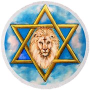 The Lion Of Judah #5 Round Beach Towel