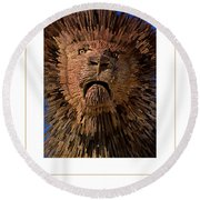 The Lion Poster Round Beach Towel