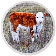 The Little Cow Round Beach Towel