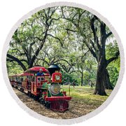 The Little Engine That Could - City Park New Orleans Round Beach Towel