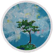 The Little Grove - Little Tree Round Beach Towel