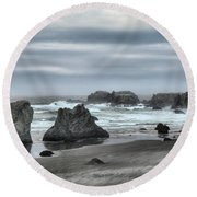 The Little Jogger Round Beach Towel