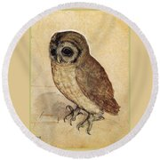 The Little Owl 1508 Round Beach Towel