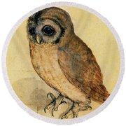 The Little Owl Round Beach Towel