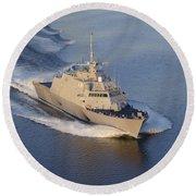 The Littoral Combat Ship Round Beach Towel