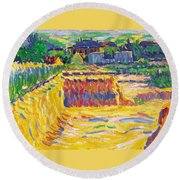 The Loam Pit Round Beach Towel