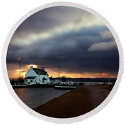 The Lock Keeper's House Round Beach Towel