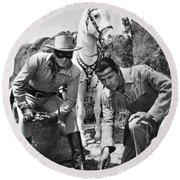 The Lone Ranger And Tonto Round Beach Towel