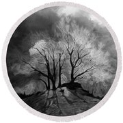 The Lonely Grave Round Beach Towel