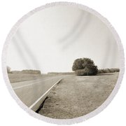 The Lonely Road Round Beach Towel