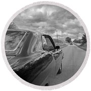 The Long Road Home - Ford Torino Cobra Jet Round Beach Towel