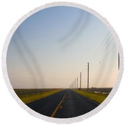 The Long Road Round Beach Towel