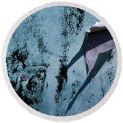 The Long Shadow Round Beach Towel