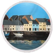 The Long Walk Galway Round Beach Towel