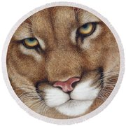 The Look Cougar Round Beach Towel